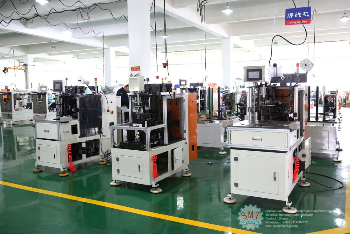 Automatic Single Phase Motor Stator Lacing Machine CNC Controller White Color